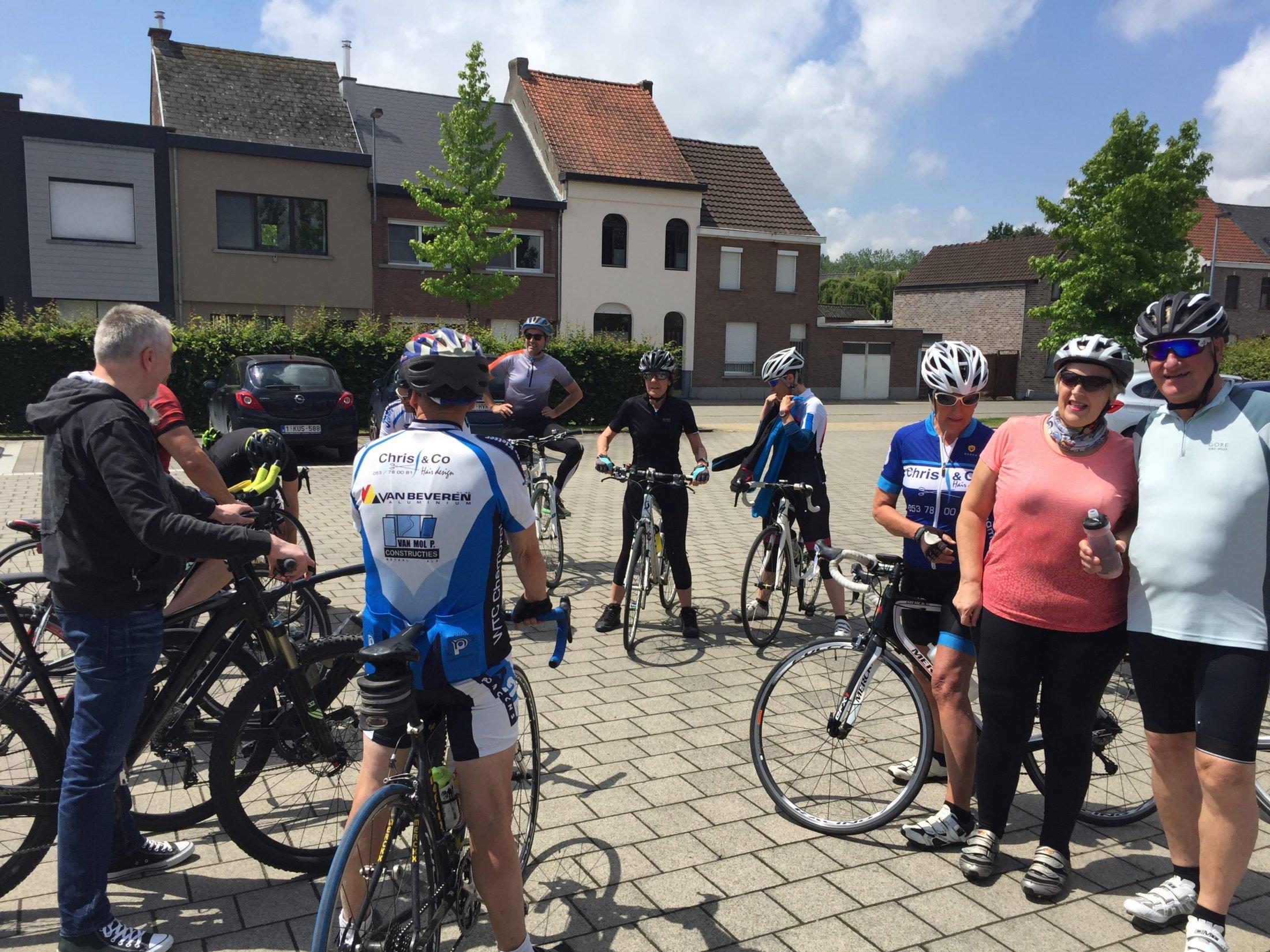 vertrekkersklaar voor ritje start to cycle