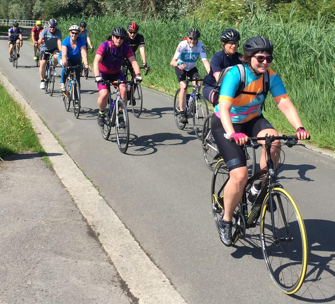 ritje tijdens de start to cycle