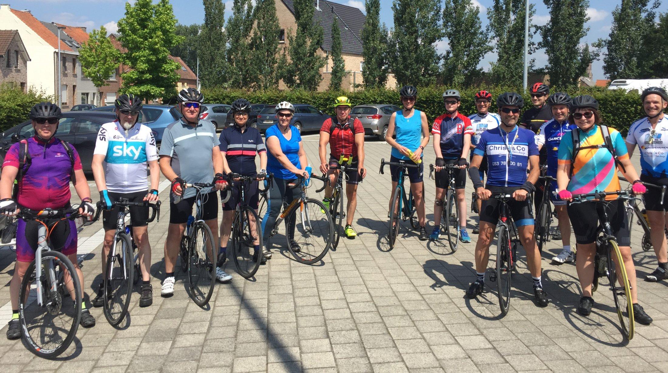 vertrekkersklaar voor een ritje van start to cycle